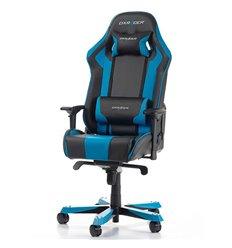 Кресло DXRacer OH/KS06/NB King Series, компьютерное, экокожа, цвет черный/синий