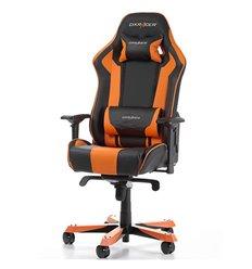 Кресло DXRacer OH/KS06/NO King Series, компьютерное, экокожа, цвет черный/оранжевый