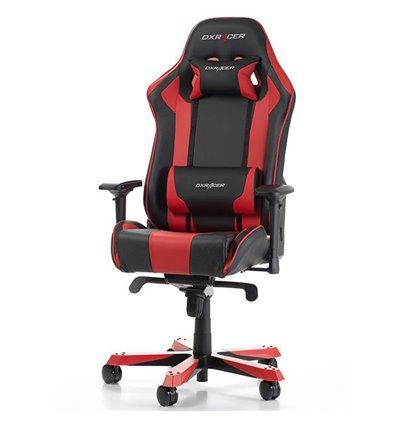 Кресло DXRacer OH/KS06/NR King Series, компьютерное, экокожа, цвет черный/красный