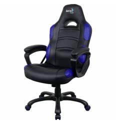 Кресло AeroCool AC80C AIR-BB, геймерское, экокожа, цвет черный/синий
