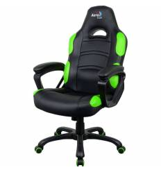Кресло AeroCool AC80C AIR-BG, геймерское, экокожа, цвет черный/зеленый