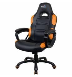 Кресло AeroCool AC80C AIR-BO, геймерское, экокожа, цвет черный/оранжевый