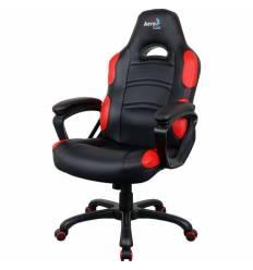 Кресло AeroCool AC80C AIR-BR, геймерское, экокожа, цвет черный/красный