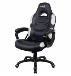 Кресло AeroCool AC80C AIR-BW, геймерское, экокожа, цвет черный/белый