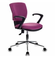 Кресло Бюрократ CH-636AXSL/BERRY для оператора, ткань, цвет розовый