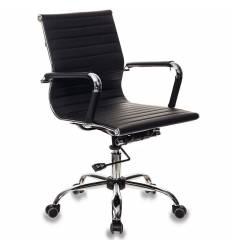 Кресло Бюрократ CH-883-LOW/BLACK для руководителя, экокожа, цвет черный