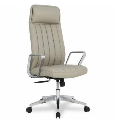 Кресло College HLC-2413L-1/Grey для руководителя, экокожа, цвет серый