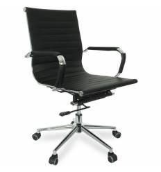 Кресло College CLG-621-B/Black для руководителя, экокожа, цвет черный