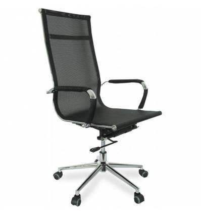 Кресло College CLG-622-A/Black для руководителя, сетка, цвет черный
