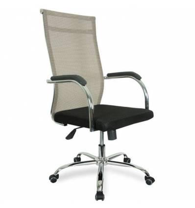 Кресло College CLG-623-A/Beige для руководителя, сетка/ткань, цвет бежевый/черный