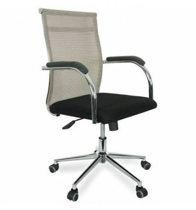 Кресло College CLG-623-B/Beige для руководителя, сетка/ткань, цвет бежевый/черный