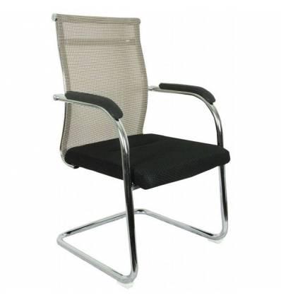 Кресло College CLG-623-C/Beige для посетителя, сетка/ткань, цвет бежевый/черный