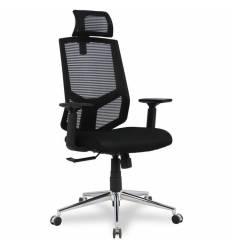 Кресло College HLC-1500HLX/Black для оператора, сетка/ткань, цвет черный