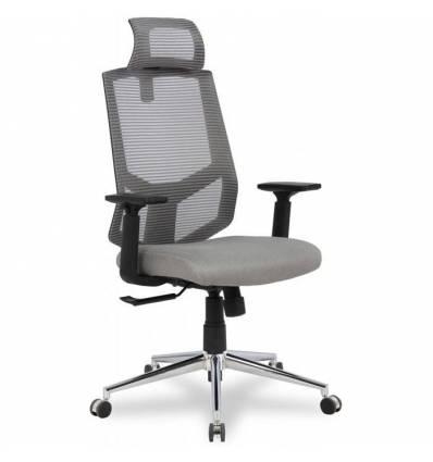 Кресло College HLC-1500HLX/Grey для оператора, сетка/ткань, цвет серый