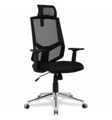 Кресло College HLC-1500H/Black для оператора, сетка/ткань, цвет черный