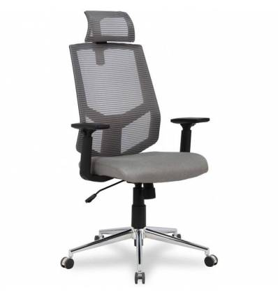 Кресло College HLC-1500H/Grey для оператора, сетка/ткань, цвет серый