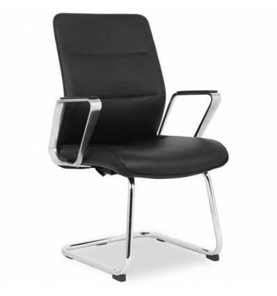 Кресло College HLC-2415L-3/Black для посетителя, экокожа, цвет черный
