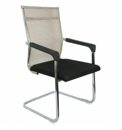 Кресло College CLG-101/Beige для посетителя, сетка/ткань, цвет бежевый/черный