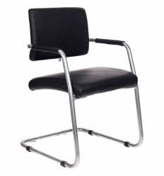 Кресло Бюрократ CH-271-V/SL/OR-16 для посетителя, хром, экокожа, цвет черный