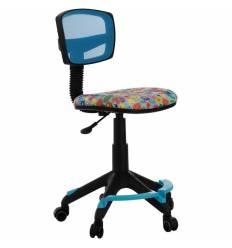 Кресло Бюрократ CH-299-F/LB/MARK-LB детское, сетка/ткань, голубой марки