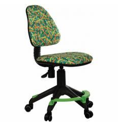 Кресло Бюрократ KD-4-F/PENCIL-GN детское, цвет зеленый карандаши