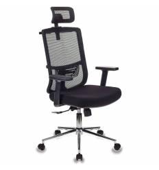 Кресло Бюрократ MC-612-H/B/26-B01 для руководителя, сетка/ткань, цвет черный