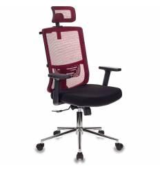 Кресло Бюрократ MC-612-H/R/26-B01 для руководителя, сетка/ткань, цвет красный/черный