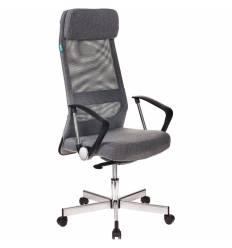 Кресло Бюрократ T-995HOME/GREY для руководителя, сетка/ткань, цвет серый