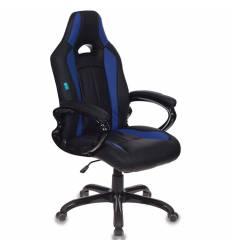 Кресло Бюрократ CH-827/BL+BLUE игровое, экокожа, цвет черный/синий