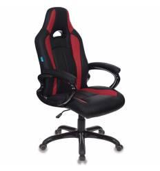 Кресло Бюрократ CH-827/BL+RED игровое, экокожа, цвет черный/красный