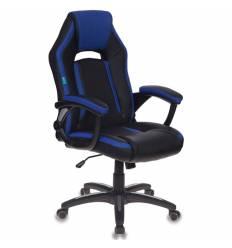 Кресло Бюрократ CH-829/BL+BLUE игровое, экокожа, цвет черный/синий