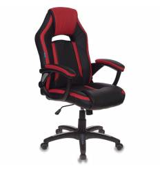 Кресло Бюрократ CH-829/BL+RED игровое, экокожа, цвет черный/красный