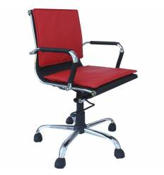 Кресло Стиль Флорино хром для руководителя, низкая спинка