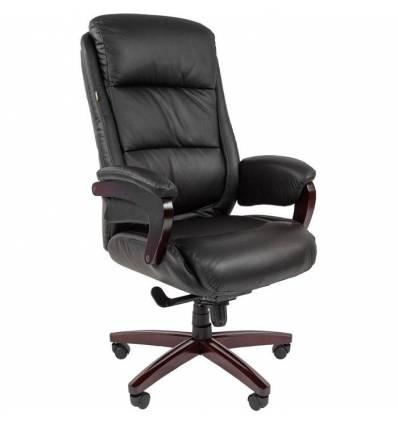 Кресло CHAIRMAN 404 для руководителя, кожа, цвет черный