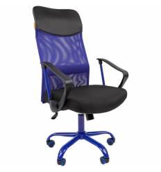 Кресло CHAIRMAN 610 CMet/BLUE для руководителя, сетка/ткань, цвет синий/черный