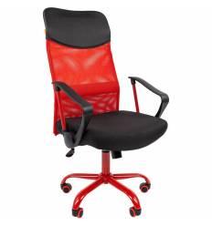 Кресло CHAIRMAN 610 CMet/RED для руководителя, сетка/ткань, цвет красный/черный