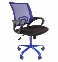 Кресло CHAIRMAN 696 CMet/BLUE для оператора, сетка/ткань, цвет синий/черный