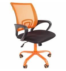 Кресло CHAIRMAN 696 CMet/ORANGE для оператора, сетка/ткань, цвет оранжевый/черный