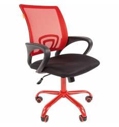 Кресло CHAIRMAN 696 CMet/RED для оператора, сетка/ткань, цвет красный/черный