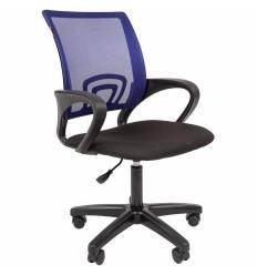 Кресло CHAIRMAN 696 LT/BLUE для оператора, сетка/ткань, цвет синий/черный