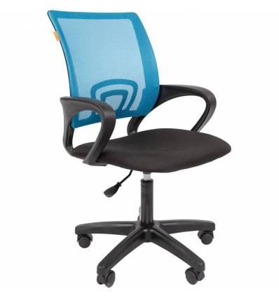 Кресло CHAIRMAN 696 LT/L.BLUE для оператора, сетка/ткань, цвет голубой/черный