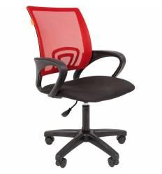 Кресло CHAIRMAN 696 LT/RED для оператора, сетка/ткань, цвет красный/черный