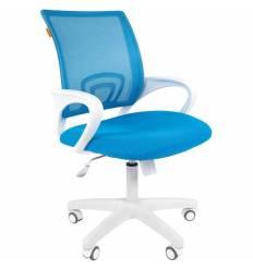 Кресло CHAIRMAN 696 WHITE/L.BLUE для оператора, белый пластик, цвет голубой