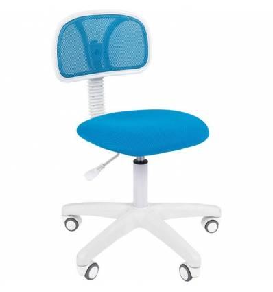Кресло CHAIRMAN 250 WHITE/L.BLUE для оператора, белый пластик, цвет голубой