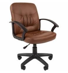 Кресло CHAIRMAN 651/Brown для оператора, экокожа, цвет коричневый