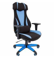 Кресло CHAIRMAN GAME 14/Blue для руководителя (геймерское), ткань, цвет голубой/черный