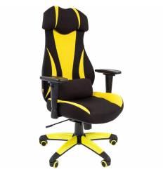 Кресло CHAIRMAN GAME 14/Yellow для руководителя (геймерское), ткань, цвет желтый/черный