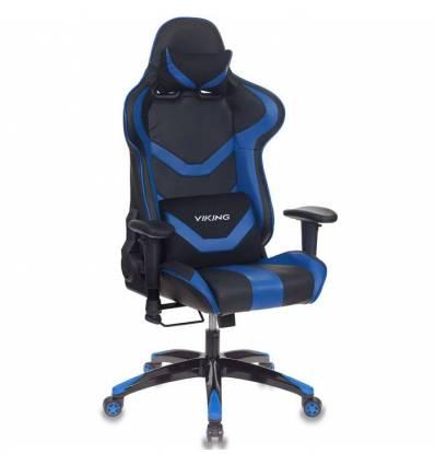Кресло Бюрократ CH-772N/BL+BLUE игровое, экокожа, черный/синий