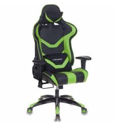 Кресло Бюрократ CH-772N/BL+GREEN игровое, экокожа, черный/зеленый