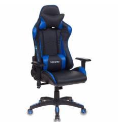 Кресло Бюрократ CH-778/BL+BLUE игровое, экокожа, черный/синий